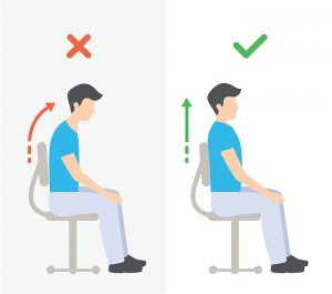how to keep a straight posture